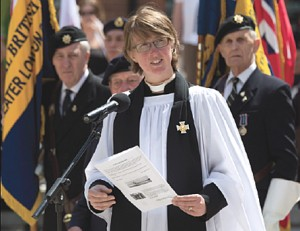 FEEL THE FORCES - the stirring service was led by Reverend Chrissie Lacey