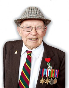 DISTINGUISHED - 97-year-old D-Day veteran Victor Jeffery