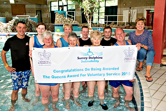 COMMITMENT RECOGNISED – Surrey Dolphins landed the Queen's Award