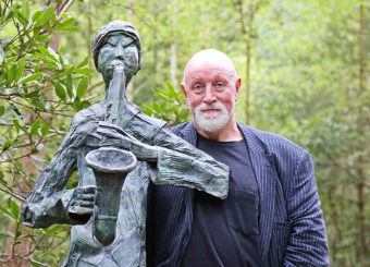 EDDIE POWELL - who is holding the auction, owns the Sculpture Park in Churt and has been collecting art for 40 years