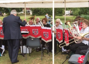 ON SONG – the Bisley Almac Brass Band wowed the crowds
