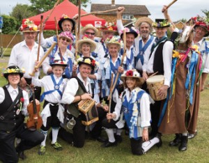 FULL OF CHEER – the Chobham Morris Dancers stopped by to add a pinch of tradition to the summer fayre