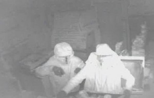 TOUGH TO TELL – a blurry image, but officers hope someone can help identify the pair