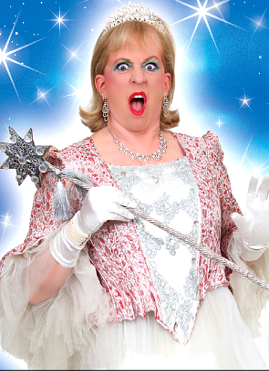 KEAN TO IMPRESS – Dillie Keane in full panto gear