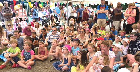A CAPTIVE AUDIENCE – Punch & Judy fans young and old take their seats