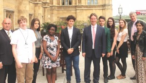 FUTURE LEADERS – Woking Youth Council dropped in on Parliament with a little help from 'tour guide' Jonathan Lord MP