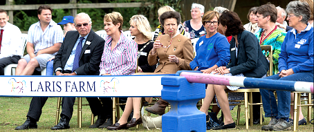 FRONT ROW SEATS – the Princess Royal was given the best seat in the house to catch a display