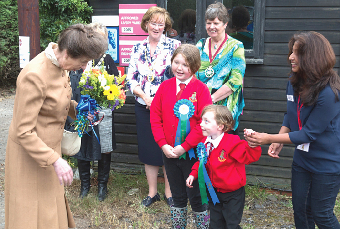 CAPTIVE AUDIENCE – youngsters were overawed by the chance to meet a real life princess at Laris Farm