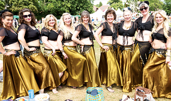 – the dancing girls of Bellytricks keep Party visitors on their toes