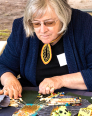 LOCAL TALENT – Suzanne Martin of the Lace Society demonstrates her craft