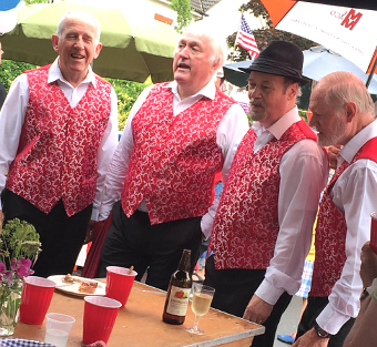 STREET ON SONG – there was no shortage of fun to be had, as these colourful fine crooners show