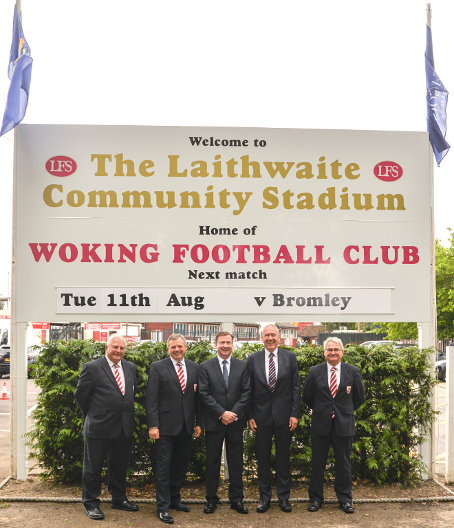 COMMUNITY STADIUM – Mr Laithwaite, the first WFC ground sponsor in history, said he and his board 'felt privileged'