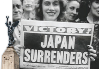 WELCOME NEWS – people around the world celebrate VJ-Day in August 1945