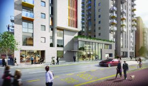 A computer-generated image of how the new development on the Elizabeth House site would look.