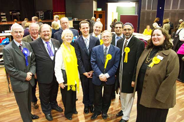WINNERS – front row, from left, Tony Branagan, Derek McCrum, Anne Roberts, Ashley Bowes, Ian Johnson, Mohammed Bashir and Amanda Coulson. Back row, from left, Michael Smith, David Bittleston, Ian Eastwood and Sajjad Hussain