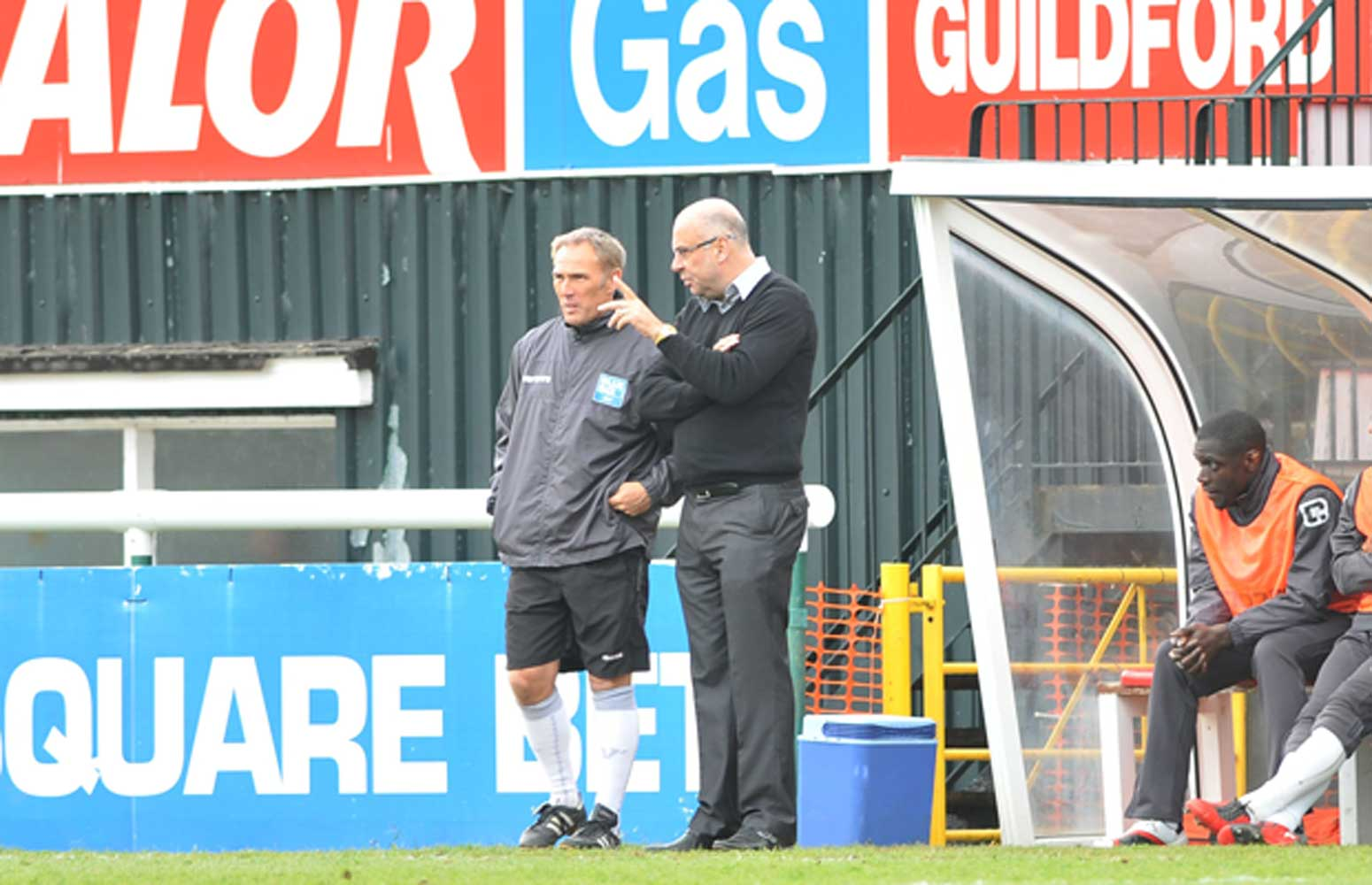 WINNING PAIR - Garry Hill and Steve Thompson discuss the way forward