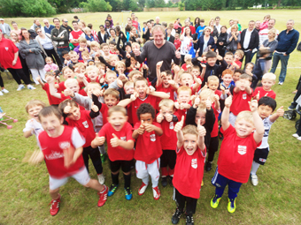 RED LETTER DAY – Byfleet's young players give the new £250,000 facilities a big thumbs up