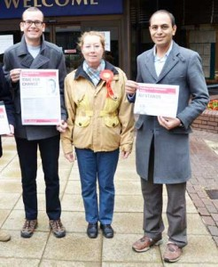 CUTS - Mohammad Ali (right) could not sway the council's decision