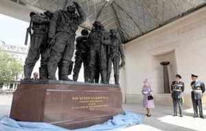 FITTING TRIBUTE – The Queen unveils the stunning Bomber Command memorial in London