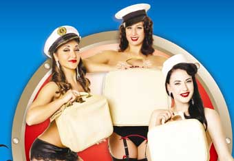 ALL AT SEA – House Of Burlesque girls give being Shipwrecked! a glamorous look