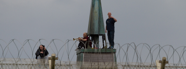 PRISON BREAK - the trio camped on the roof for hours