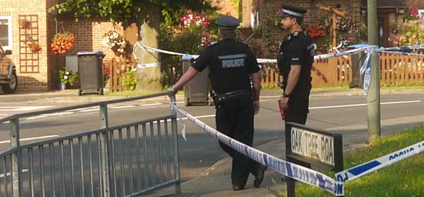 TERROR - residents had to be evacuated by police