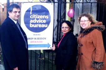 WEEKLY DROP-IN SESSIONS - Cllrs Saj Hussain and Debbie Harlow with Manager Navina Hakamali