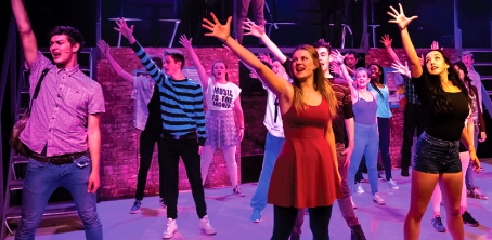MUSIC MAESTROS AND TAPPING TOES – teens found the fortune in Fame as they made Woking College's Beldam Theatre their own