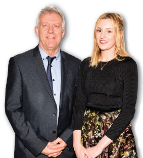 MY INSPIRATION - the school's Head of Performing Arts, Simon Donaldson, with Laura