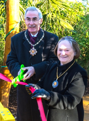OFFICIAL CUT - the Mayor and Mayoress open the park