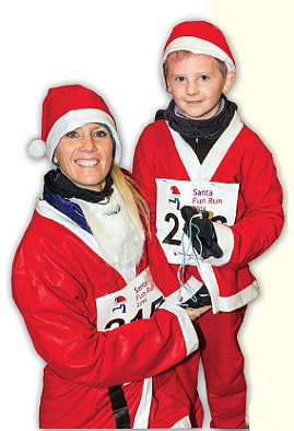 MEET THE REAL SANTA - Marcos Rees and his mum Laura did just that