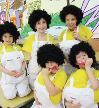 HAIR-RAISING! – are these Oompa Loompas or Pirbright School youngsters?