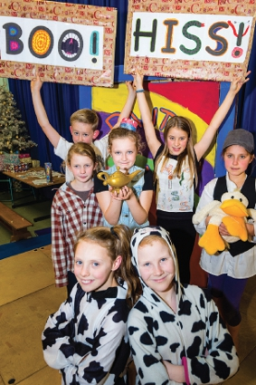 THE SIGNS ARE GOOD – audiences were given a helping hand in Pyrford