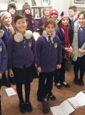 LITTLE CHORISTERS – Year 4 kids came to serenade senior residents
