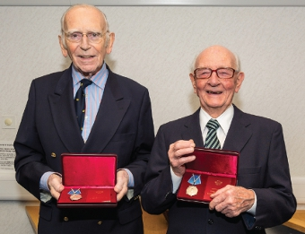 VALIANT HEROES - Douglas Potts and Reginald Guy were highly delighted with their medals