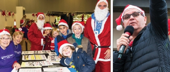 YULETIDE LOGISTICS - entrants register while Chief Executive Nigel Harding shows the way