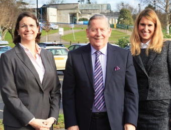 SITE FOR THE HOE VALLEY FREE SCHOOL – Councillor John Kingsbury with Claerwyn Hamilton-Wilkes, and new Headteacher Penny Alford (Pictures by: Tony Charters)