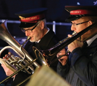 LOUD AND PROUD – the Salvation Army were in fine form to mark Christmas