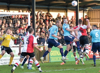 MISFIRING - Cards were left high and dry after a miserable showing at Kingfield (Pictures by : David Holmes)