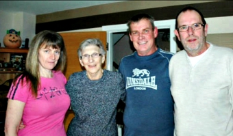 SUFFERING – Shirley Price (second from left) with daughter Faith and sons Glenn and Robin