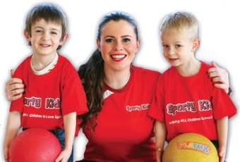 CHILD'S PLAY - Fun-loving Ellie with a couple of Sporty Kidz