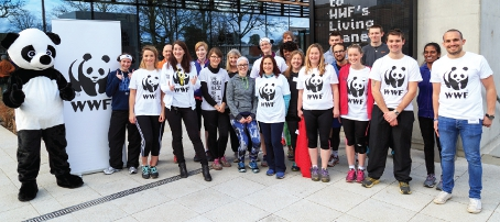 BLACK AND WHITE DELIGHTS – 'Panda Power' was on show as Team Panda's latest recruits were put through their paces at WWF's HQ
