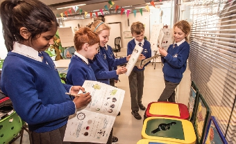 SERIOUS STUFF – but WWF-UK make sure that kids enjoy working to save the planet