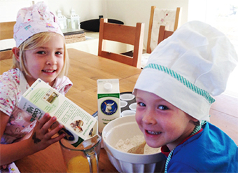 COOKING UP A STORM – carton stars Bella and William Handyside