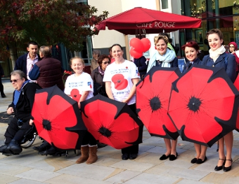 WOKING'S FIGHTING FORCE – or just a small part of it, whose efforts all go toward helping armed forces personnel
