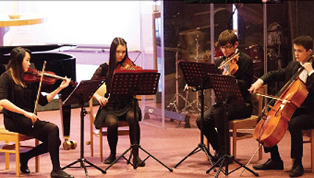 A STRING OF TALENT – Amy, Isobel, Alistair and Sam are the XY String Quartet and section leaders of the United Reform Church Orchestra in Guildford A STRING OF TALENT – Amy, Isobel, Alistair and Sam are the XY String Quartet and section leaders of the United Reform Church Orchestra in Guildford