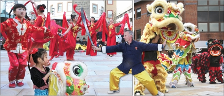 LION'S SHARE – the best-known cultural dances are the Dragon Dance and the Lion Dance, which these young ladies performed to perfection; you can be forgiven for finding it tricky identifying which is lion and which is dragon (above right)