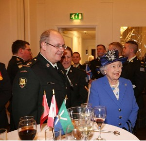 RIGHT ROYAL MEETING – Williams Evans with The Queen