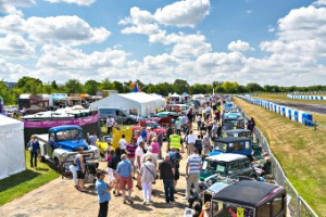 SET THE SCENE – all manner of old motors streamed into the event