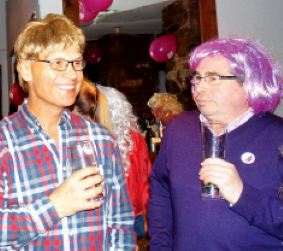 GETTING A WIG-GLE ON – punters have fun